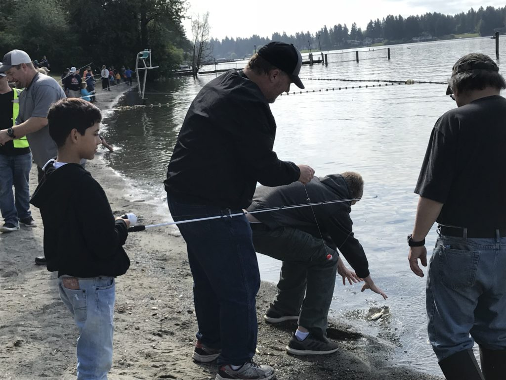 Service project for fishing derby