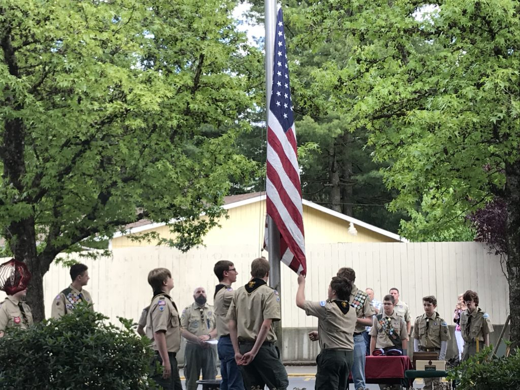 Flag Ceremony for local Retirement Community